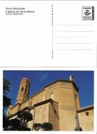 SPAIN. POSTAL STATIONARY. SANTA MARIA CHURCH. TOWER. TAUSTE (ZARAGOZA) - Enteros Postales
