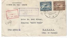 COVER CORREO AERO - AIR MAIL - AGENCIA POSTAL COLON - HOSPITAL SANTO THOMAS - PANAMA. - Equateur