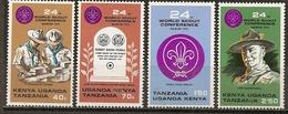 Kenya Uganda Tanzania 1973 Scoutisme Scouting Complete Set MNH ** - Kenya (1963-...)