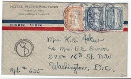 COVER CORREO AERO - AIR MAIL - CASILLA - WASHINGTON D.C. - Equateur