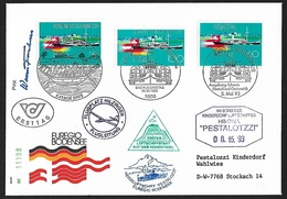 1993 - ÖSTERREICH/DEUTSCHLAND/SCHWEIZ - FDC [Bodensee] - Michel 1678 - BREGENZ - BERLIN - WINTERTHUR - FDC: Covers