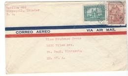 COVER CORREO AERO - AIR MAIL - GUAYAQUIL - ST.PAUL - MINNESOTA - Equateur
