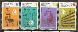 Kenya Uganda Tanzania 1973 Police Interpol Complete Set MNH ** - Kenya (1963-...)