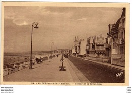 VILLERS SUR MER -Avenue De La République   2 Scans TBE - Villers Sur Mer