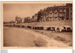 VILLERS SUR MER -La Plage Et Les Villas    2 Scans TBE - Villers Sur Mer