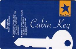 GREECE Cabin Keycard - BLUE STAR ,used - Hotelkarten