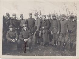 A/5 - FOTOGRAFIA - GRUPPO UFFICIALI ARTIGLIERIA - 12X9 (circa) - Guerra, Militari
