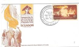 ECUADOR FIRST DAY COVER - CAPTAIN JHON PAUL JONES - INDEPENDENCE 1776-1782 - QUINTO. - Equateur