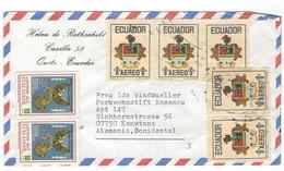 COVER CORREO AERO - AIR MAIL - HELEN DE ROTHSCHILD - QUINTO - KONSTANZ - ALEMANIA. - Ecuador