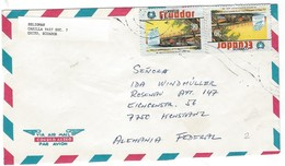 COVER CORREO AERO - VIA AIR MAIL - CASILIA - KONSTANZ - ALEMANIA. - Ecuador