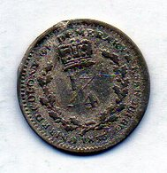 BRITISH GUIANA - ESSEQUIBO & DEMERARY, 1/4 Guilder, Silver, Year 1833, KM #17 - Guyana