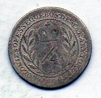BRITISH GUIANA - ESSEQUIBO & DEMERARY, 1/4 Guilder, Silver, Year 1809, KM #4 - Guyana