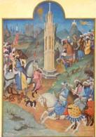 Art - Peinture - Les Très Riches Heures Du Duc De Berry - La Rencontre Des Rois Mages (au Fond Notre-Dame, La Saint Chap - Peintures & Tableaux