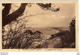 VILLERS SUR MER - Vue Générale Des Falaises    2 Scans  TBE - Villers Sur Mer