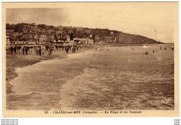 VILLERS SUR MER - La Plage Et Les Falaises  2 Scans  TBE - Villers Sur Mer