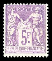 N°95, 5f Violet Sur Lilas, Frais. TB (certificat)  Qualité: *  Cote: 650 Euros - 1876-1898 Sage (Tipo II)