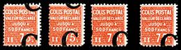 N°112, 'C' Sur 75c, 4 Ex Surcharges à Cheval. TTB (certificat)  Qualité: **  Cote: 540 Euros - Colis Postaux