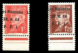 LES ROUSSES, N°5 Surcharge Très Décalée Et N°6 Surcharge Recto-verso, Bdf. TB  Qualité: **  Cote: 90 Euros - Libération