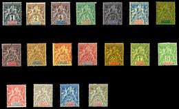 GUADELOUPE, N°27/44, Les 2 Séries TTB (certificat)  Qualité: *  Cote: 462 Euros - Unused Stamps