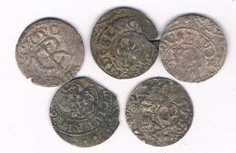 SCHILLING 5X 1660-1665 LIVONIA  LETLAND /8960/ - Lettonie