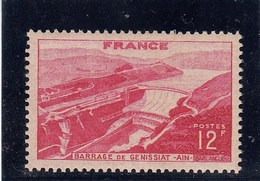 France - 1948 - N° YT 817** - Barrage De Génissiat - Francia