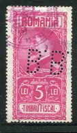 Rumaenien / Fiscal-Marke 5 LEI O, Perfin (1885) - Fiscaux