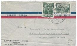 COVER CORREO AERO - VIA AIR MAIL - QUITO - NEW BRUSNSWICK - N.J. - Ecuador