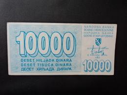 .BOSNIE HERZÉGOVINE :  10 000 DINARA   6.4.1993     P 28      SUP - Bosnia Y Herzegovina