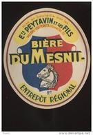 ETIQUETTE DE BIERE - BIERE DU MESNIL - ETS PEYTAVIN ET FILS, VILLERS-COTTERETS, AISNE - Bière