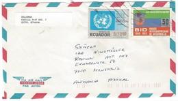 COVER CORREO AERO - VIA AIR MAIL - QUITO - KONSTANZ - ALEMANIA - UNICEF- DESARROLLO. - Equateur