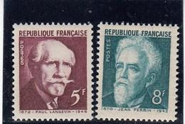 France - 1948 - N° YT 820/21** - Transfert Au Panthéon Des Cendres De Célébrités - France