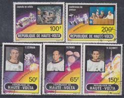 Haute Volta P.A. N° 130 / 34 O  Apollo XVII Les 5 Valeurs Oblitérations Légères, TB - Upper Volta (1958-1984)