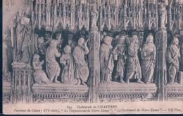 POSTAL FRANCIA - CATHEDRALE DE CHARTRES - POURTOUR DU CHOEUR - LE TREPASSEMENT DE NOTRE DAME - Chartres