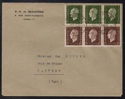 MARIANNE DE DULAC / 1950 LETTRE DE PARIS POUR CASTRES (ref LE3811) - 1944-45 Marianne Of Dulac