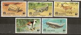 Kenya 1977 Animaux Animals Complete Set Obl - Kenia (1963-...)