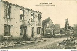 WW 3 CPA GUERRE 1914-18. Enterrement D'un Brave à Perthes-les-Hurlus, Ruines à Albert Et Après La Bataille à Haraucourt - Oorlog 1914-18