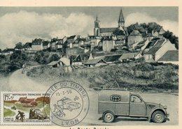 1958 Journée Du Timbre  Lyon   Deux Chevaux Citroen - 1950-59