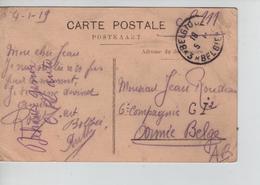 PR7623/ CP Marchienne Au Pont C.Fortune Belgique Passe Partout '3' 1919 > Militaire 6° Cie GI2 AB - Fortune Cancels (1919)