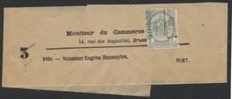 "Fine Barbe - N°53 Préo Bruxelles 00 Sur Bande De Journal ""Moniteur Du Commerce"" Vers Nimy. - 1893-1800 Fijne Baard"