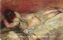 SLOVENIA - THEMATIC PAINTING - MATEJ STERNEN NUDE LYING WOMEN - Slovenia