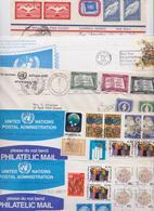 NATIONS UNIES NEW YORK ONU UNITED NATIONS Beau Lot De 345 Enveloppes Commerciales Et Philatéliques Timbrées Et Voyagées - Unclassified