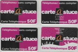 Carte Prépayée - Lot De 4 Cartes Différentes - CARTE@STUCE -  Visuels Et/ou Versos  Différents - Frankrijk