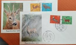Germany BRD FDC 1966 Hochwild Wild Deer - FDC: Sobres