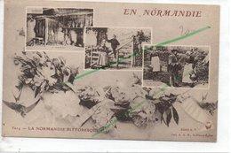 SAINT PIERRE EGLISE CARTE POSTE LEGOUBEY  LA NORMANDIE PITTORESQUE CARTE FANTAISIE - Autres Communes