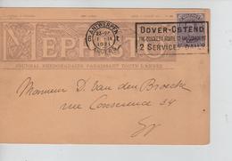 PR7624/ TP 139 S/CP Entête Mephisto Journal Théâtral C.Antwerpen 1921 + Flamme Dover-Ostend > E/V - 1915-1920 Alberto I