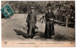 CPA Auvergne - Folklore - 2274. Paysannes Revenant Du Marché - VDC ELD - Personnages