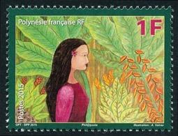POLYNESIE 2015 - Yv. 1088 **  - Espoir Pour L'avenir: Femme Et Arbre  ..Réf.POL24983 - Polynésie Française