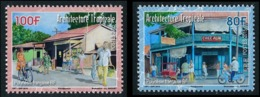 POLYNESIE 2015 - Yv. 1090 Et 1091 **  - Architecture. Expo SINGAPORE'2015 (2 Val.)  ..Réf.POL24985 - Polynésie Française
