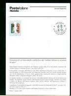 ITALIA - BOLLETTINO MINISTERIALE  N° 22/2002  - ROMA 2002 - MILITARI ITALIANI IN MISSIONE DI PACE -  Perfetto - Folder
