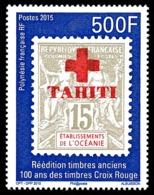 POLYNESIE 2015 - Yv. 1094 **  - Timbre Sur Timbre. Croix-Rouge  ..Réf.POL24988 - Polynésie Française